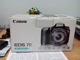 Câmera digital Canon EOS 7D profissional DSLR + bolsa + lente 50mm + lente 18-135mm