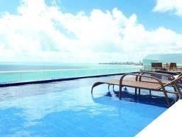 Oportunidade flat beira mar em Intermares,frente por mar, piscina