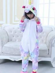 Pijama de Unicórnio Infantil numero 6 8 10 e 12