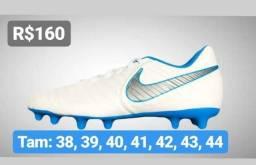 Chuteira Nike Tiempo 7 Club Campo + Meião Original Adidas Totalmente Grátis 2996cd646138b