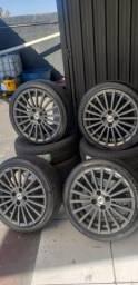 Rodas 17 furacao 4x100 pneus 205/45/17