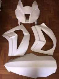 Kit Carenagem De Pista Frontal Zx10 2011 A 2015 Retroglass Nova