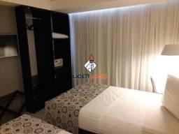 LÍDER IMOB - Apartamento Flat Mobiliado com 1 Dormitório, para Locação, no Executive Hotel