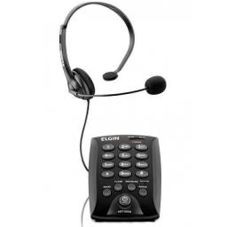 Telefone Elgin Headset Telefonista com Base Discadora HST-6000 Preto
