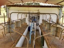 Ordenhadeira mecânica toda inox, para 8 vacas, seminova