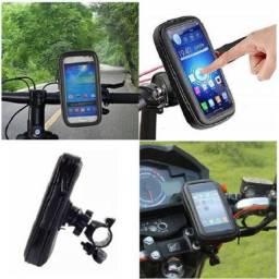 R$39,90 - Suporte Celular Impermeável Moto/Bicicleta - Mtg-016bB ''Tomate''