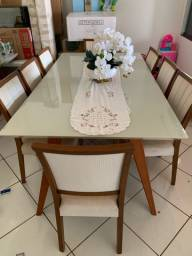 mesa retangular 8 cadeiras