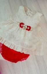 Vestido luxo bebê Tam P