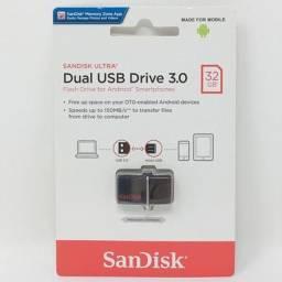 Pen Drive Sandisk Dual Usb 32GB Usb3.0
