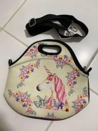 Bolsa( lancheira)  de unicornio