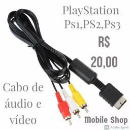 Cabo de áudio e vídeo para Playstation
