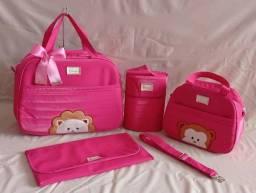 Kit de bolsa maternidade Safari Rosa Pink