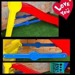 Escorregador Playground Freso Kids Casinha Brinquedo Usados