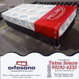 Título do anúncio: Cama cama solteiro ** cama base e colchão D-33