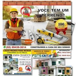 Construo casas com garantia, entre em contato