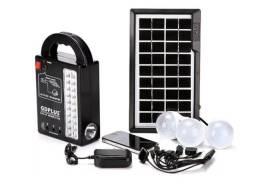 Kit Energia Solar 3 Lampadas Led Placa E Central Eletrônica