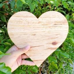 Tábua de Coração em Madeira Pinus