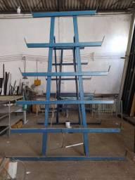 Prateleira/suporte/estaleiro em ferro industrial
