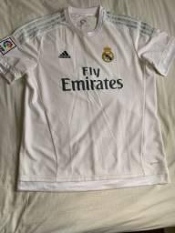 Camisas oficiais do Real Madrid e Barcelona tamanho GG