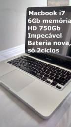 MacBook Pro i7 Único Dono, Bateria nova, apenas 2 Ciclos