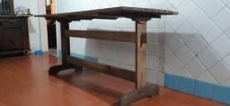 Mesa madeira + 4 cadeiras madeira