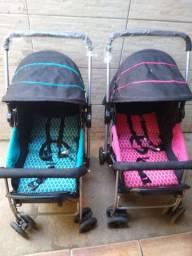 Vende -se 2 carrinhos de bebês semi-novo para menino e para menina