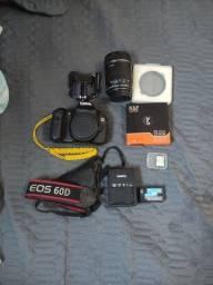 Título do anúncio: Canon 60D completa + lente 18-135 + filtro + cartão de memória