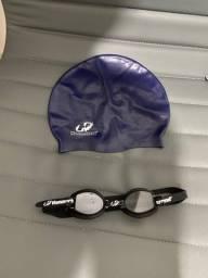 Óculos e touca mergulho/natação