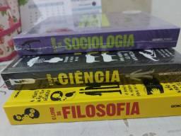 Livro da ciência,  Livro da sociologia  e livro da filosofia