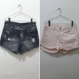 Kit 2 shorts tamanho 36
