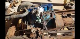 Motor com caixa de marcha do Opala