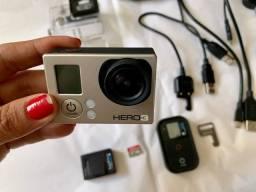 Câmera  GO Pro 3 + acessórios