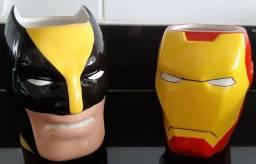 Caneca Super Heróis - Avengers / Vingadores - Wolwerine / Homem de Ferro