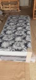 ** cama box solteiro com 10 cm de espuma nao precisa de colchao muito confortavel