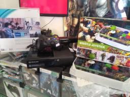 Xbox 360 com controle arcade street fighter