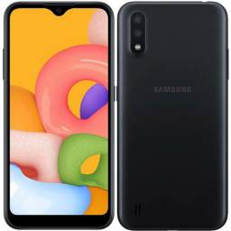 Celular smartphone Samsung A01 preto