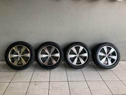 Título do anúncio: Rodas aro 20 Hilux com pneus Ótimos 245/50R20