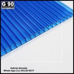 Chapa de Policarbonato Alveolar Azul 1,05 x 6,00 4mm