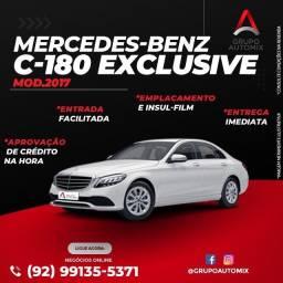 Título do anúncio: mercedes c180 2017