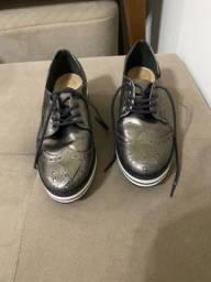 Sapato oxford schutz flatform 36 em couro