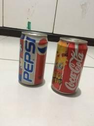 Latinhas de coca e Pepsi de 1997