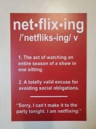 "Placa decorativa ""Netflixing"""