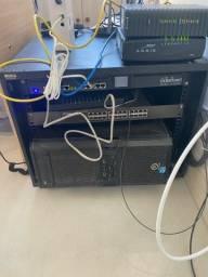 Rack com switch
