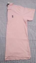 Título do anúncio: Camisa gola polo rosa