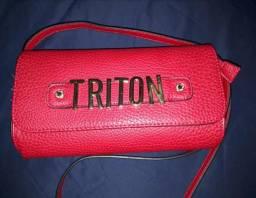 Bolsa Triton vermelha tiracolo