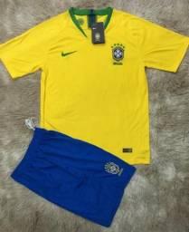 Conjunto Camisa + Shots Brasil 2018