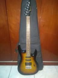 Guitarra Golden com alavanca, capa e alça