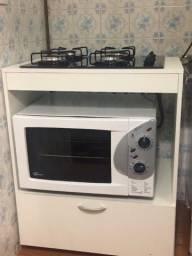 Conjunto Cooktop + Forno Eletrico + Móvel