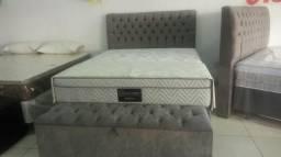 Conjunto box colchao cama queen