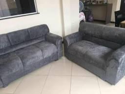 Sofa fenix 3x2 lugares tecido suede